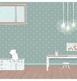 Children room dark with bulbs background design vector image