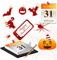 Collection for Halloween small vector image