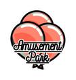 color vintage amusement park emblem vector image