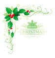 merry christmas and happy new year corner border vector image