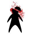 murder symbol vector image
