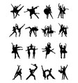 silhouettes of ballerinas vector image