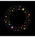 Wreath of Multicolored Stars vector image