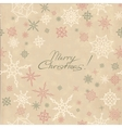 Retro christmas background with snowflakes vector image vector image