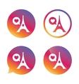 Eiffel tower icon Paris symbol vector image