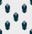Corn icon sign Seamless pattern with geometric vector image