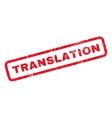 Translation Rubber Stamp vector image