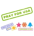 Pray For USA Rubber Stamp vector image
