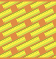 yellow wooden ruler seamless pattern vector image
