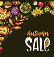 autumn sale corner vector image