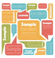 Set of colorful speech bubbles vector image