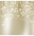 Abstract Christmas with snowflakes EPS 8 vector image vector image