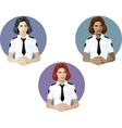 Woman in police uniform referent vector image vector image