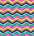 Pink yellow and blue zig zag seamless pattern vector image