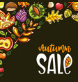 autumn sale corner vector image