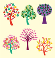 beautiful trees collection vector image