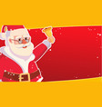 big christmas sale banner template with happy vector image