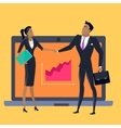 Business Cooperation Concept in Flat Style vector image