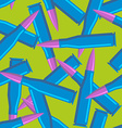 Colored bullets for hippies Blue military ammo vector image