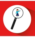 human resources searching teacher graphic vector image