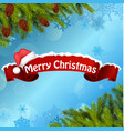 Merry christmas background banner vector image