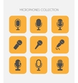 Microphone icons flat style vector image