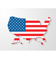 usa map with shadow effect vector image