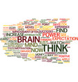You can increase your brainpower text background vector image