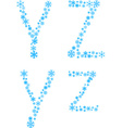 YZ letters vector image