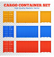 Cargo Container Transparent Set vector image