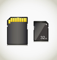 Memory card vector image vector image