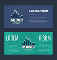vintage flyers with music sound record vector image
