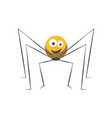 friendly spider with round body and long thin legs vector image