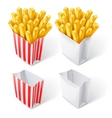 fried chips in paper bag vector image vector image