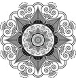 Indian henna tattoo flower pattern vector image