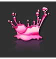 splash water with reflection on black background vector image