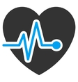 Heart Pulse Icon vector image