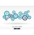 Delivery mechanism concept vector image