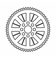Sprocket from bike icon outline style vector image