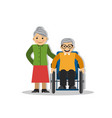 a man on a wheelchair and joy vector image