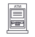 atm machinepayment line icon sign vector image