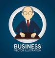Business design over blue background vector image