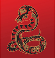 Chinese horoscope Year of the snake vector image