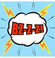 Comic cartoon with lightning effect vector image