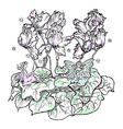 fairies flower cyclamen color vector image