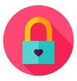love padlock circle icon vector image