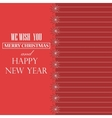 Merry Christmas ribbon paper design greeting card vector image
