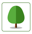 Oak linden tree icon vector image