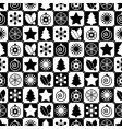 seamless black and white Christmas vector image