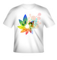 t-shirt design with colorful design vector image
